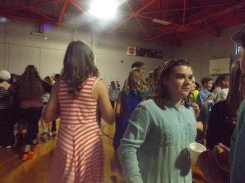 SOCIAL STUDENTS. The dance allowed Sevier students to socialize more with their friends.