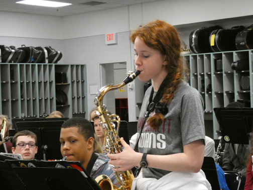 Jazz Ensemble spices up middle school band music
