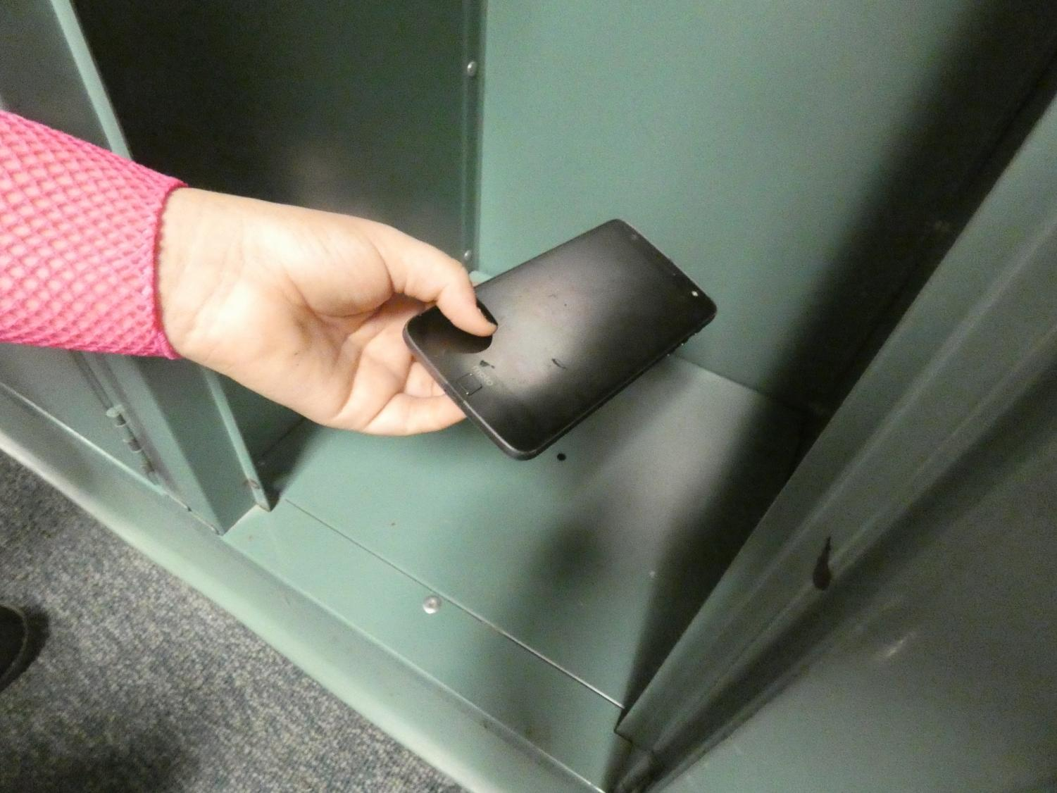 SOLITARY CONFINEMENT. In a policy change, students have to lock up their cell phones during the school day. Last school year, students were allowed to carry their phones during the day and use them during lunch.