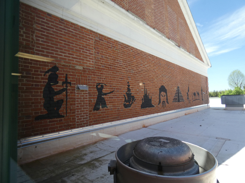 Teachers create historical wall art to inspire students