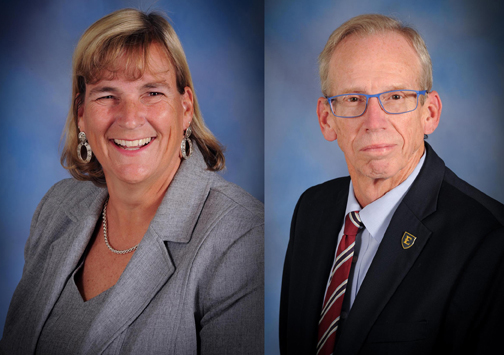 NEW KIDS ON THE BOARD. Julie Byers, left, and Jim Welsch were recently elected as new members of the Kingsport City Schools Board of Education.