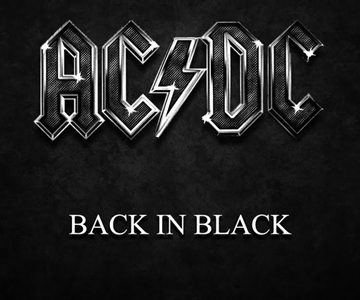 EVERGREEN BLACK ALBUM. The music of AC/DC's