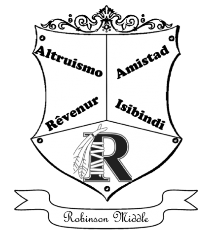 "A KINGSPORT HOGWARTS? This coat of arms mock-up represents the effort of Robinson Middle to bring a ""House System"" to students."