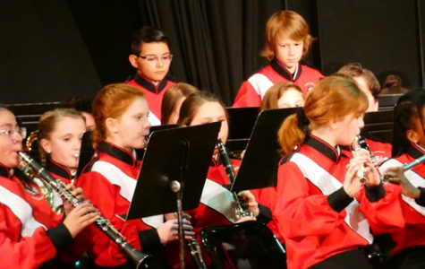 A SINGLE CHOICE. Sixth grade band members perform in the holiday concert. Band, orchestra and chorus are the only three related arts classes students can actually choose.